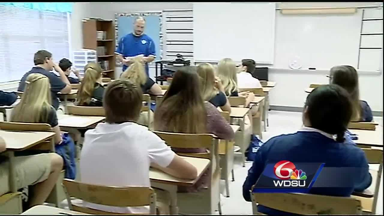 Students returned to class in Livingston Parish on Monday for the first time since the August floods damaged 1/3 of the school system's buildings.