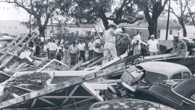 7. Hurricane Audrey (1957) -- A powerful Category 4 storm, Audrey caused catastrophic damage across eastern Texas and western Louisiana, killing 416 people.