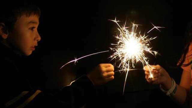 Fireworks, Kids, Sparklers