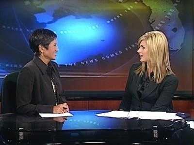 Former WESH 2 anchor Wendy Chioji is shown with Martha Sugalski.