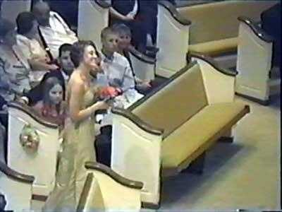 Jennifer Kesse appears in home video of a wedding ceremony two years ago.