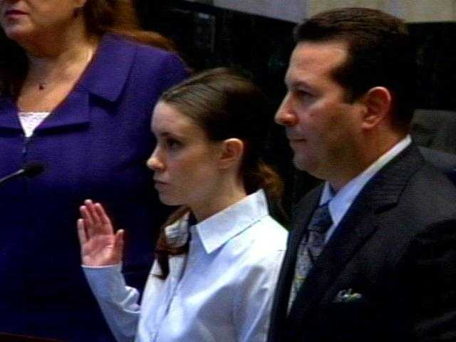 Casey Anthony with attorneys Andrea Lyon and Jose Baez.