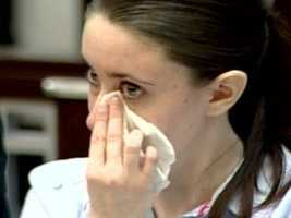 Casey Anthony is seen crying as her father took the witness stand.
