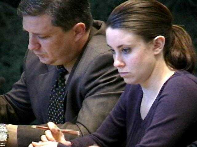 Casey Anthony waits for hearing to start on Wednesday.