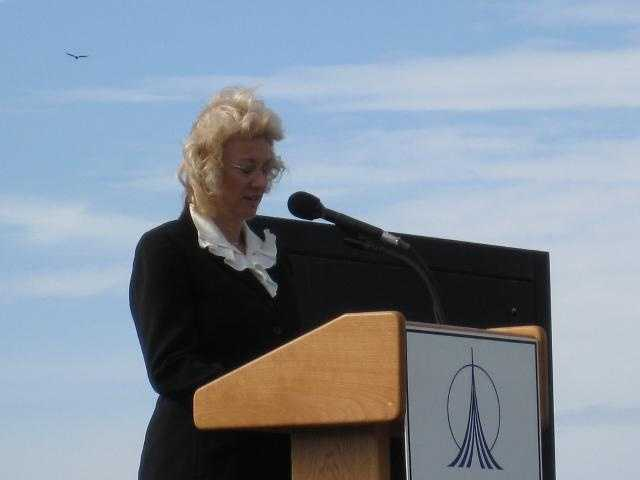 """Evelyn Husband-Thompson: """"These past five years, NASA has been by our side through thick and thin."""""""