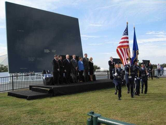 The Honor Guard from Patrick Air Force Base presents the colors before the ceremony.