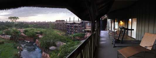 Visitors staying on property can view more than 30 species of wildlife from the balconies of the Lodge.