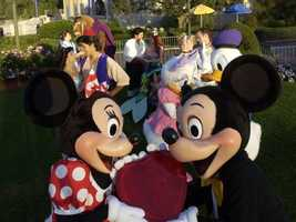 1. Mickey and Minnie Mouse