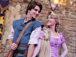 9. Rapunzel and Flynn Rider