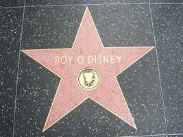 Roy O. Disney - 6833 Hollywood Boulevard (July 24, 1998) Motion Pictures