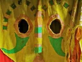 Where can you find this huge African mask at Walt Disney World?