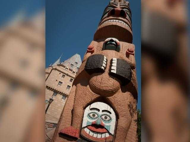 At Epcot's Canada Pavilion, that's where! It's one of several totem poles at the Native Indian village.