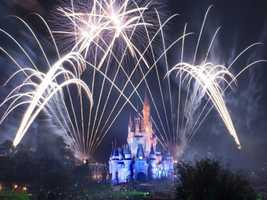 "If you plan on spending New Year's Eve at the Magic Kingdom, then expect two huge fireworks displays. ""Wishes"" starts at 8:30 and ""Fantasy in the Sky"" begins at 11:50 p.m."