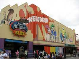 Jimmy Neutron's Nicktoon Blast closed in 2011.  It was replaced by Despicable Me: Minion Mayhem in 2012.