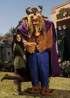 "Actress/singer Vanessa Hudgens poses Feb. 13, 2011 with the ""Beast"" from Disney's animated film ""Beauty and the Beast"" at Disney's Hollywood Studios theme park at Walt Disney World Resort in Lake Buena Vista, Fla."