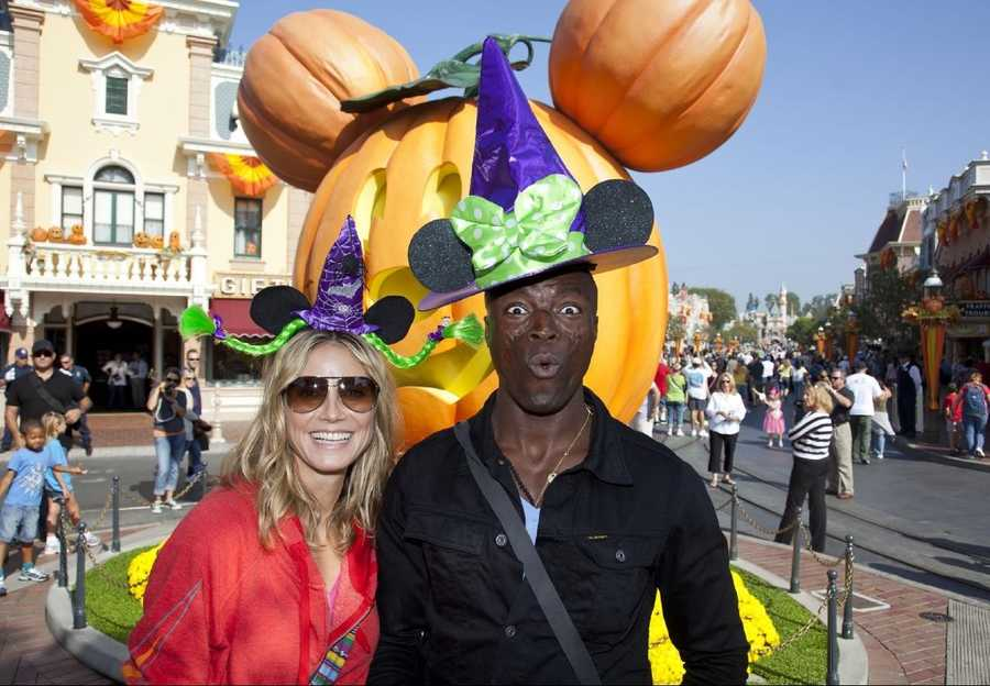 Heidi Klum and Seal celebrate Halloween Time at Disneyland in Anaheim, Calif.
