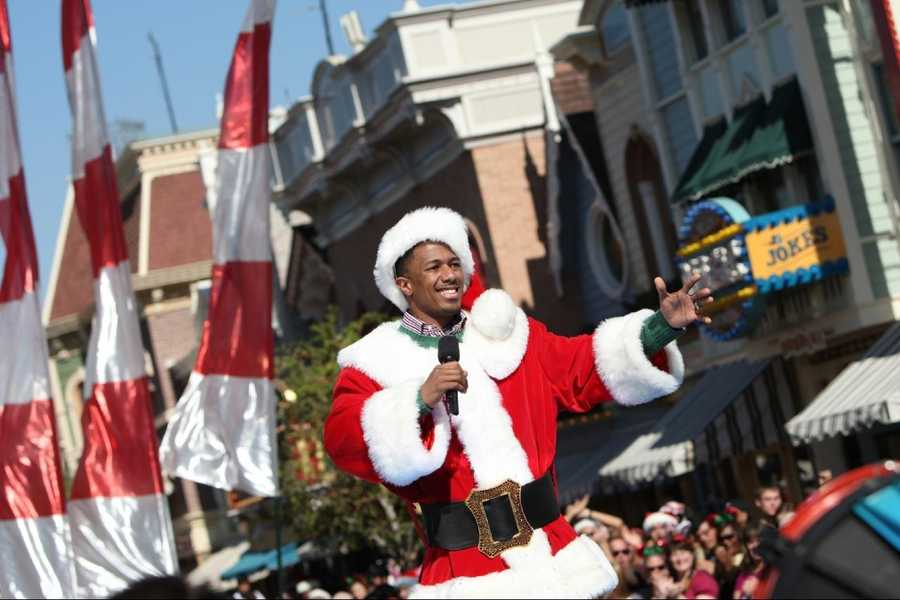 Nick Cannon tapes a segment for the 2011 Disney Parks Christmas Day Parade at Disneyland in Anaheim, Calif.