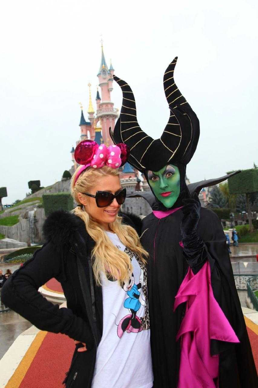 Paris Hilton visits Disneyland Paris.