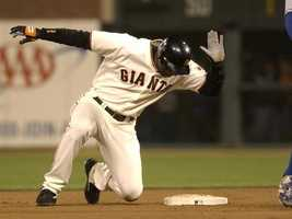 2003: Major League Baseball home run record (Barry Bonds, San Francisco Giants)