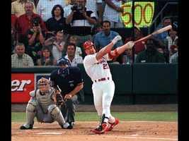 1998: Major League Baseball home run record (Mark McGwire, St. Louis Cardinals)