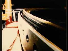 View of the O-ring in the top of the aft segment of the right SRB
