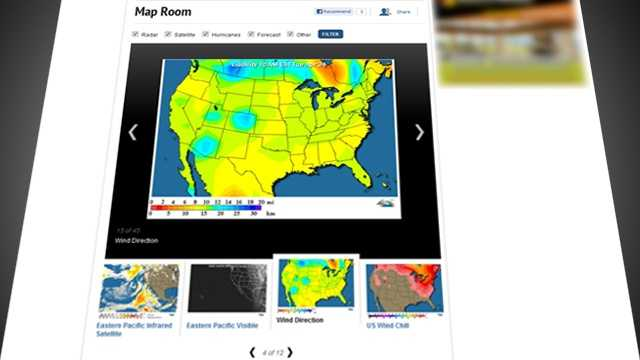See the latest weather maps from across the country and from our region in our improved Map Room section.