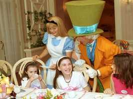 And there's always time for tea. Join Alice for her Wonderland Tea Party at Disney's Grand Floridian Resort.