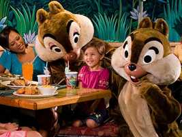Meet Chip n' Dale for dinner at the Garden Grill.