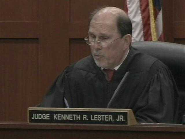 Judge Kenneth Lester was the judge presiding over the second-degree murder case, until it was found that he showed bias.
