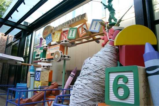 If you guessed the rope was at Disney's Hollywood Studios in front of the Toy Story Mania entrance, then you were right!