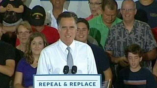 Mitt Romney makes campaign stop in Orlando