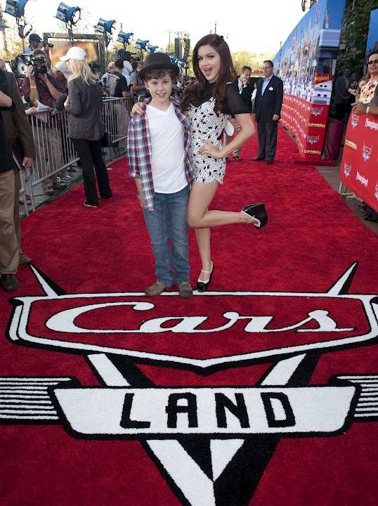 Modern Family stars Nolan Gould (left) and Ariel Winter walked the red carpet at the opening of Cars Land in California.