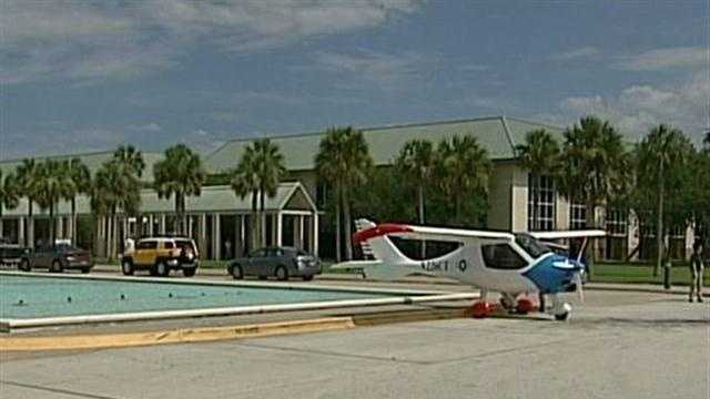 A plane makes an emergency landing in Brevard County.