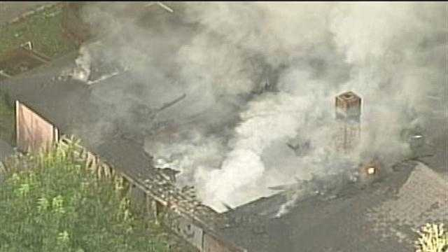 Crews battle two house fires in Central Florida