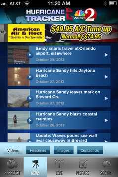 The free Hurricane Tracker app for iPhone and Android devices will also keep you up-to-date on the latest tropical weather news and video from WESH 2.