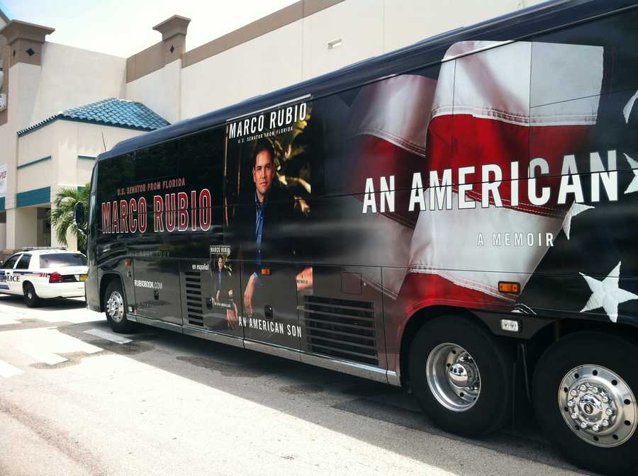 """Sen. Marco Rubio signed copies of his memoir, """"An American Son,"""" in BJ's Wholesale Club near the Mall at Millenia on Monday morning."""