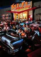 Take a break and grab a bite to eat at one of Disney's delicious restaurants.  The Sci-Fi Dine-In Theater at Disney's Hollywood Studios is a great way to get out of the rain.