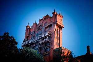 The Hollywood Tower Hotel is 199 feet tall, making it one of the tallest attractions at Walt Disney World.  It comes in just under Expedition Everest.