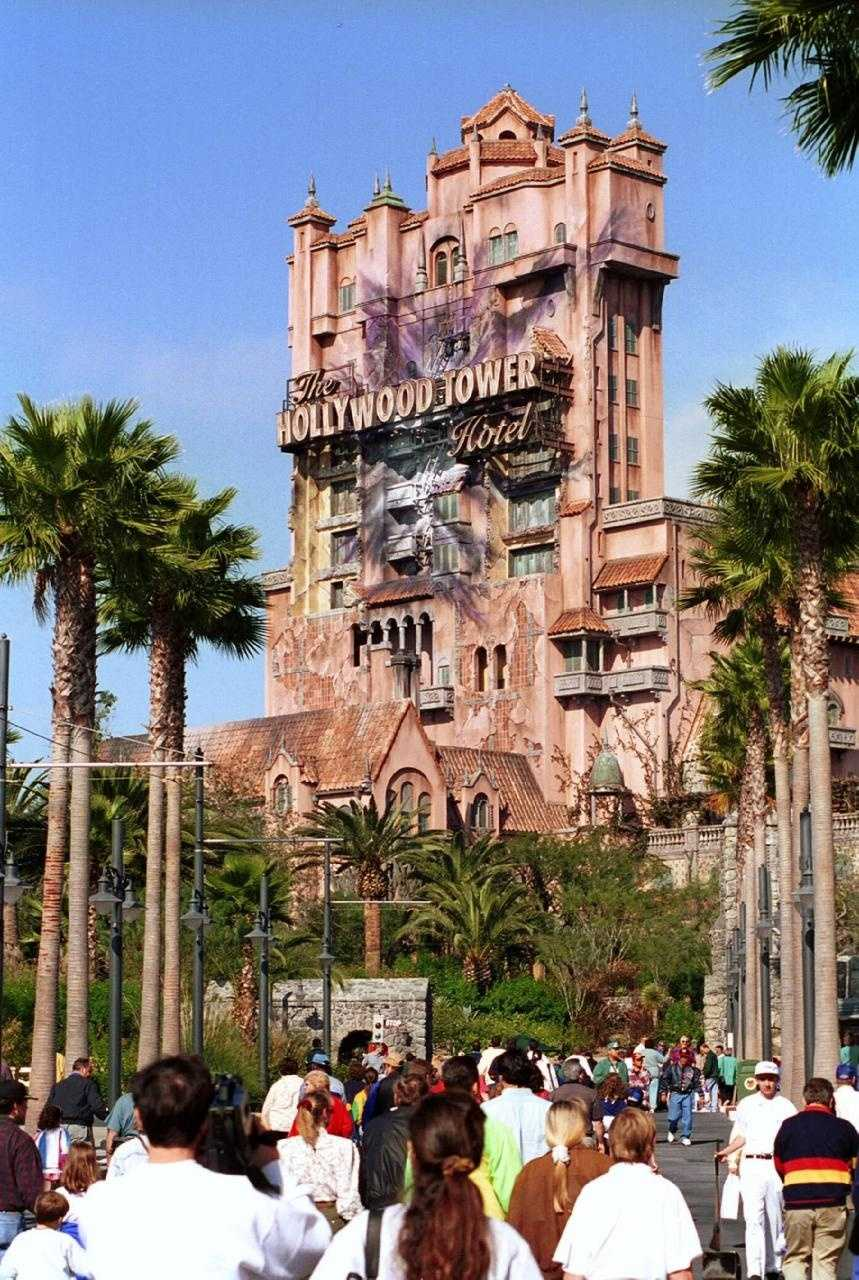 """According to Disney, guests aboard Tower of Terror fall faster than gravity.  """"That is because the elevator car doesn't 'free fall' — the ride's mechanics actually push and pull it up and down,"""" Disney says."""