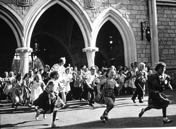 Those same children ran through the castle on their way to Fantasyland after the park was dedicated.
