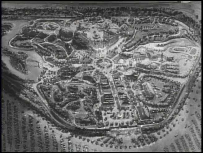 The original map for Disneyland based on Walt Disney's vision.