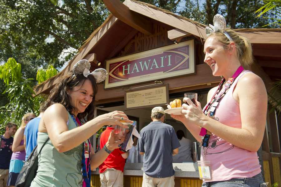 Guests can sip and graze at more than 25 international marketplaces along the park's World Showcase promenade.