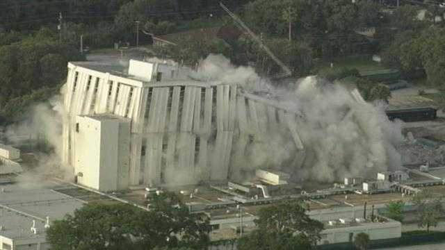 Demolition crews bring down a Central Florida landmark.