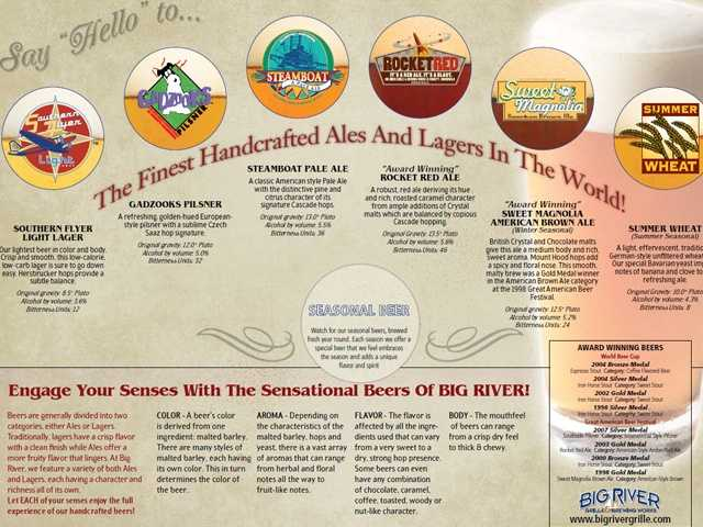 If a cold beer, or two or more, is up your alley, then take a stroll down Disney's Boardwalk. The Big RIver Grille and Brewing Works' brew master creates five handcrafted beers. Beer and lager also flow freely at the Rose & Crown Pub at Epcot and Raglan Road at Downtown Disney.
