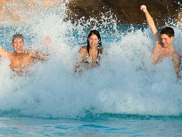 Grab some buddies and catch waves, dude. Craig Carroll's Cocoa Beach Surf School at Typhoon Lagoon boasts the world's largest wave machine and pumps out sweet swells every 90 seconds.