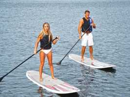 At Sammy Duvall's Watersports Centre at Disney's Contemporary Resort, water enthusiasts can water-ski and wakeboard.