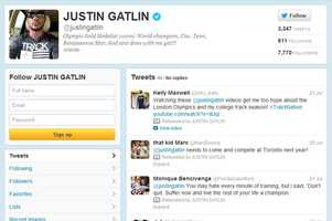 Justin Gatlin -@justingatlinMen's 100mFrom Pensacola and trains in Clermont