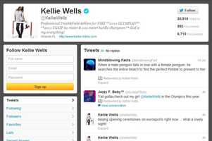 Kellie Wells -@kelliewellzWomen's track and fieldFrom Orlando