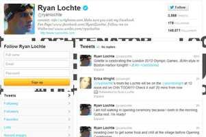 Ryan Lochte -@ryanlochteMen's swimming: 200m back, 200m IM, 400m IM, 200m free, 800m free relayFrom Daytona Beach and graduated from the University of Florida