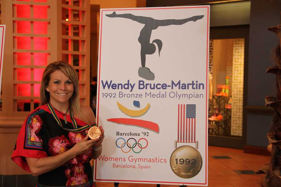 Gymnast Wendy Bruce-Martin won a gold-medal in the 1992 Barcelona Olympics games.